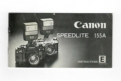 (R-0348) Canon Speedlite 155 A Instruction Manual printed in Japan