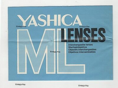 (R-0364) Yashica ML Lenses Foldout Instructions