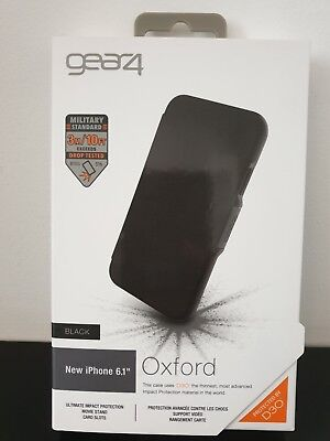 genuine Gear4 Oxford Case for iPhone XR with D30 Impact Protection  Black new
