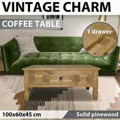 vidaXL Coffee Table Mexican Pine Corona Range 100x60x45cm Home Furniture Stand