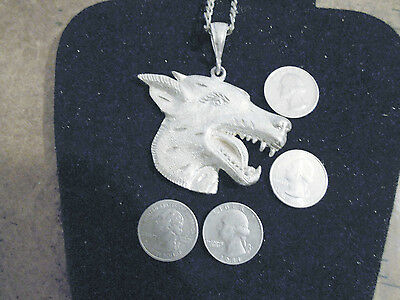 bling silver plated dog doberman pincher hip hop pendant charm necklace jewelry
