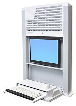 Ergotron StyleView Sit-Stand Enclosure Wall-mounted CPU holder White T60-610-062