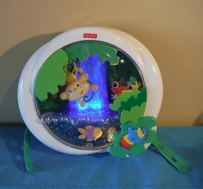2006 Fisher Price Rainforest Waterfall Peek A Boo Baby Soother Crib Toy Sound