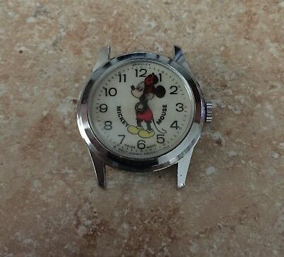 "Vintage Walt Disney Productions Swiss Made ""bradley"" Watch #23 On Back - Used"