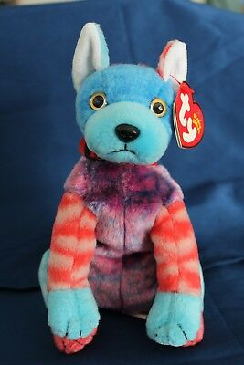 004c138f20f TY BEANIE BABY Hodge Podge the Dog MWMT Retired Birthday July 27 ...