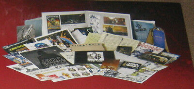 50 STAR WARS EARLY & RARE LICENSED LANDSPEEDER REVENGE STICKERS FILM CDs POSTER