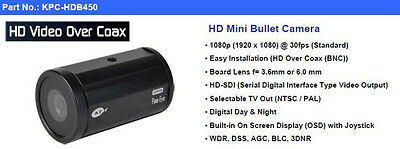 Hd-Sdi 1080P Sicurezza Telecamera Bullet Kt&c Co.KPC-HDB450 Hi Def 3.7mm