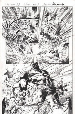 Mark Waid Original Sin 3.3 Incredible Hulk Mark Bagley Splash Page Original Art