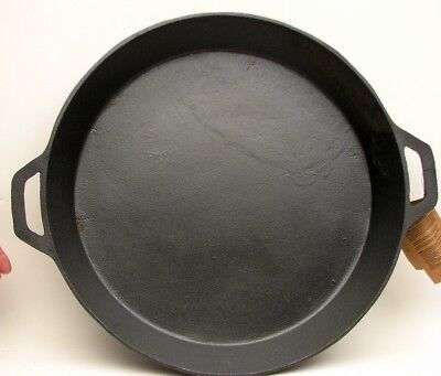 "Old Mountain CAST IRON 19.5"" SKILLET WITH TWO HANDLES #10207 GREAT FOR CAMPING"