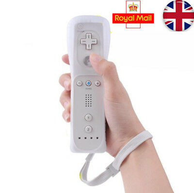 Brand New White Remote Controller For Nintendo Wii & Wii U + Silicone + Strap Uk