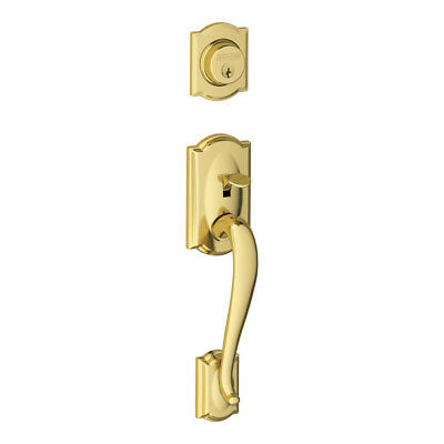 Schlage F92CAM505 Camelot Dummy Exterior Handleset from the F-Series