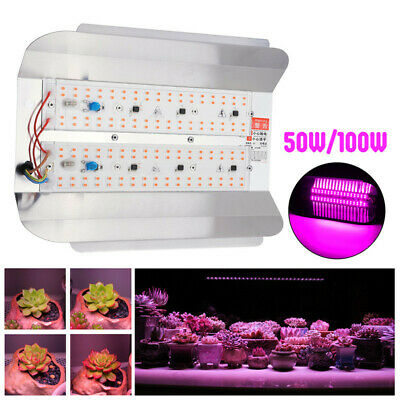 50W 100W Full Spectrum COB LED Plant Flower Grow Light Lamp Flood Light