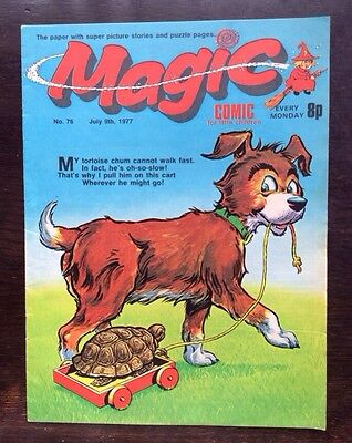 MAGIC COMIC NO.76. 9 JULY 1977 With KORKY THE CAT'S NEPHEW COPYCAT. VF+
