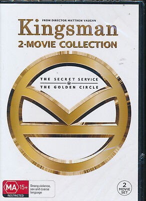 Kingsman 2-Movie Collection The Secret Service Golden Circle DVD NEW Region 4