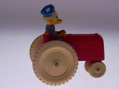 """GSCOM """"DONALD DUCK ON TRACTOR"""" VICEROY TOYS CANADA,1940s, SEHR GUT/VERY GOOD!"""