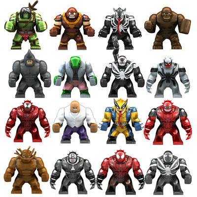 New Big Marvel Superhero Hulk Lizard Venom Bane Batman Thanos Bane fits lego