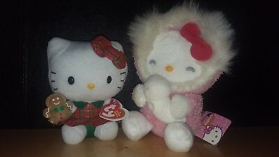 Holiday Hello Kitty Plush Stuffed Animal Toy Figure doll Claire's with tags