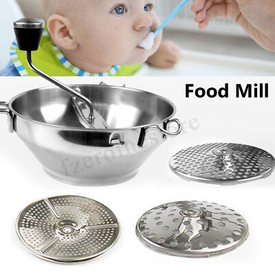 Baby Food Vegetable Fruits Jam Potato Milling Machine Grinder Ricer With 3