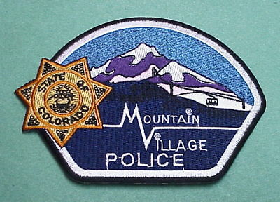 Mountain Village  Colorado  Co  Police Patch  Very Nice!!  Free Shipping!!!
