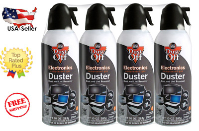 Dust-Off Falcon Professional Electronics Compressed Air Duster, 10 oz, 4 Pack