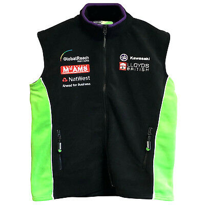 Kawasaki BSB Team Mens Fleece Lined Bodywarmer Gilet Gillet Sleeveless