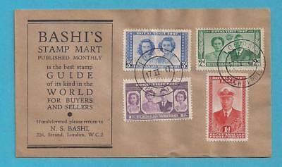 1947 BASUTOLAND ROYAL VISIT FDC - BASHI'S STAMP MART ADVERTISING COVER - sb990