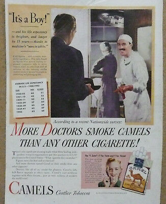 """More Doctors Smoke Camels Ad...Delivery Room """"It's a Boy"""""""