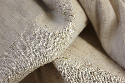 Vintage French heavy linen + cotton upholstery fabric 43 inches WIDE for cutting