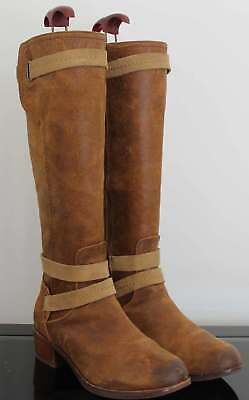 3bf55319a23 UGG DARCIE 1004172 womens black leather suede knee high riding boots ...