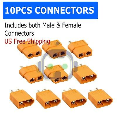 5 Pairs XT60 Male & Female Bullet Connectors Plugs For RC  Lipo Battery M412