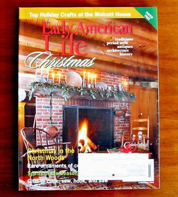 Early American Life Magazine Dec 2013 Woodcarving Sausage Footwarmers