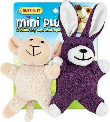 Mini Plush 2Pk Puppy Toys Assortment - Lamb/Bunny - Westminster Pet Products