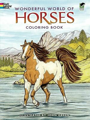 Publications - Wonderful World Of Horses Coloring Book - Dover