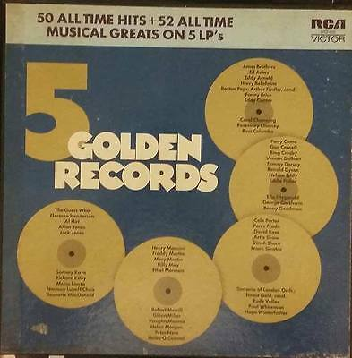 5 Golden Records - Various Artists - 50 All Time Hits - 1970  Rca Victor Dks-002