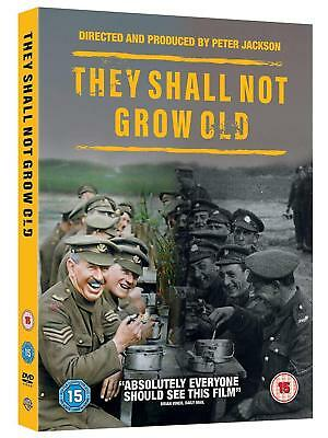 THEY SHALL NOT GROW OLD (2018) Peter Jackson WWII Documentary NEW Rg2 DVD not US