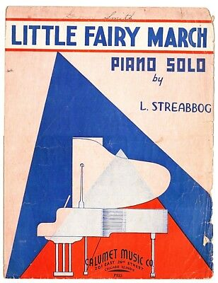 Little Fairy March Streabboc Sheet Music Calumet Music For Piano 1927 Vintage