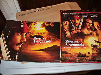 2003 Pirates of the Caribbean: Curse of the Black Pearl Complete Lobby Card Set