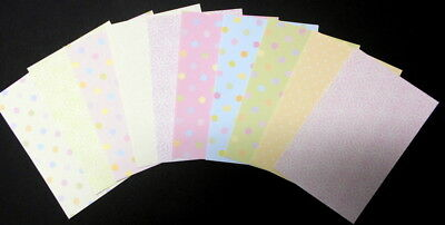 "Pastel Patterned Scrapbooking/Cardmaking Papers x 10 ~ 15cm x 10cm (6"" X 4"")"