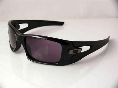 c822ddc8fd0 Oakley Sunglasses Crankcase 009165-01 Black Frame Warm Grey Lenses New Very  Rare
