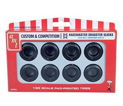 M&H Racemaster Small Slicks Pack 8 Tires AMT 1/25 scale kit#PP004