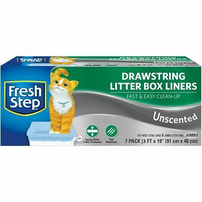 Drawstring Litter Box Liners 7/Pkg - Jumbo Unscented - Fresh Step