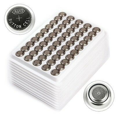 Lot 50pcs1.5V LR44 Alkaline Coin Button Cell Battery A76 L1154 AG13 357 SR44 G13