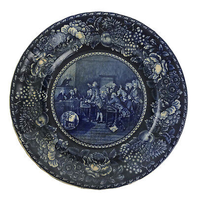 Rowland Marsellus Transferware Plate Patrick Henry Addressing Virginia Assembly