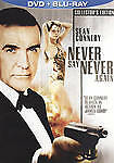 New! 007 James Bond NEVER SAY NEVER AGAIN(Blu-ray/DVD) Sean Connery Rare OOP Ed