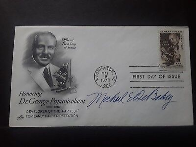 Famous Heart Surgeon Michael DeBakey  signed First Day Cover...