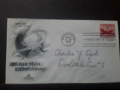 World War II Doolittle Raider Charles Ozuk signed First Day Cover...