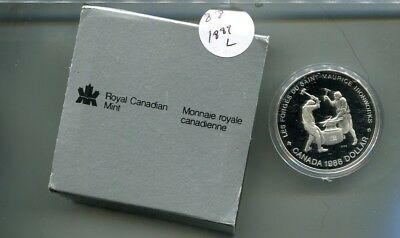 Canada 1988 Ironworks Silver Proof Dollar 1889L