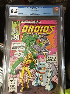 Star Wars Droids #1 CGC 8.5 Graded. White Pages John Romita Cover