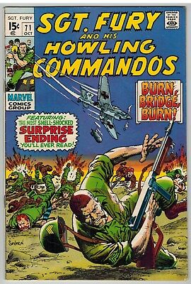 Sgt Fury And His Howling Commandos #71 1969 Marvel Silver Age Nice!