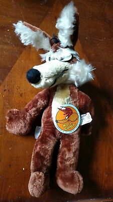 """Vintage 1971 Wile E Coyote Warner Looney Tunes 18"""" Plush With Tag Mighty Star"""